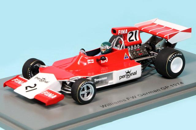 スパーク 1/43 ウィリアムズ FW ドイツGP 1974 J.ラフィー S7579