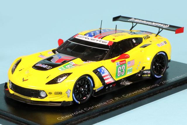"""スパーク 1/43 シボレー コルベット C7 R """"Corvette Racing"""" ルマン 24h 2019 Magnussen/Garcia/Rockenfeller No.63 S7928"""