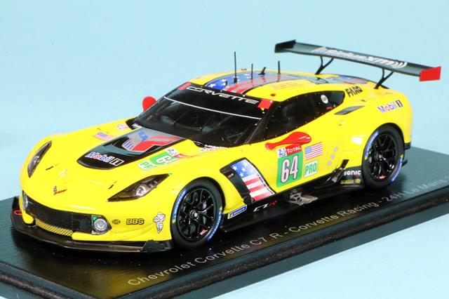 """スパーク 1/43 シボレー コルベット C7 R """"Corvette Racing"""" ルマン 24h 2019 Gavin/Milner/Fassler No.64 S7929"""
