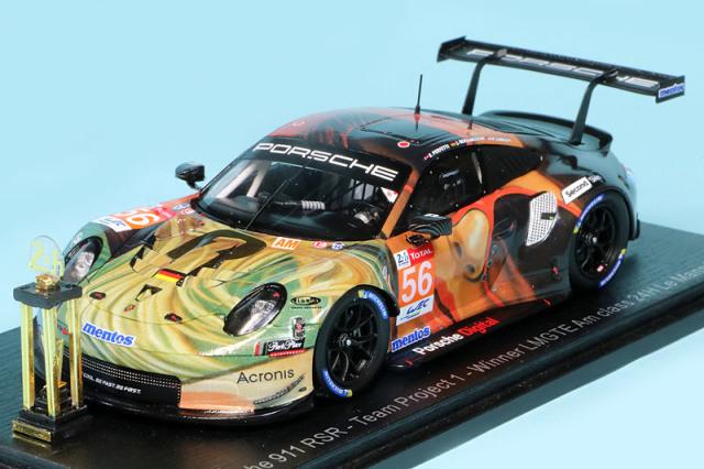 """スパーク 1/43 ポルシェ 911 RSR """"Team Project 1"""" ルマン 24h 2019 Bergmeister/Lindsey/Perfetti No.56 (トロフィー付) S7942S"""