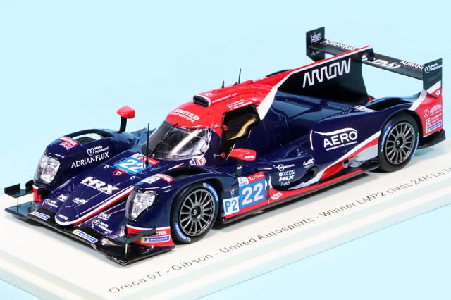 """スパーク 1/43 オレカ 07 ギブソン """"United Autosports"""" ルマン 24h 2020 LMP2クラス Winner No.22 S7963"""