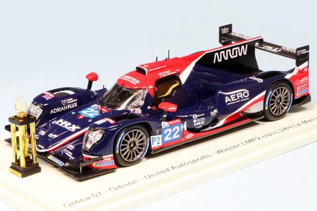 """スパーク 1/43 オレカ 07 ギブソン """"United Autosports"""" ルマン 24h 2020 LMP2クラス Winner No.22 (トロフィー付) S7963S"""