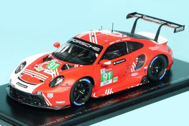 """スパーク 1/43 ポルシェ 911 RSR-19 """"Porsche GT"""" ルマン 24h 2020 Hyperpole LMGTE Proクラス 1st No.91 S7983"""