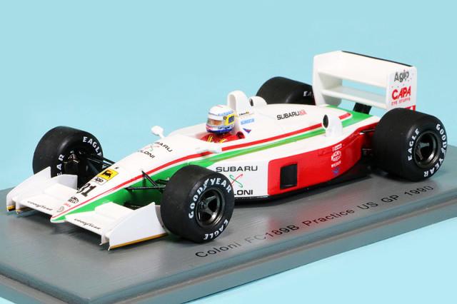 スパーク 1/43 コローニ FC189B U.S.GP 1990 プラクティス B.ガショー S8300