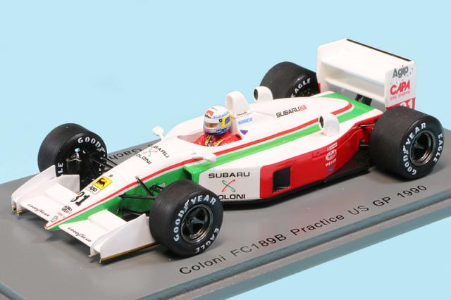 スパーク 1/43 コローニ FC189B U.S.GP 1990 プラクティス B.ガショー デカール加工品 S8300S