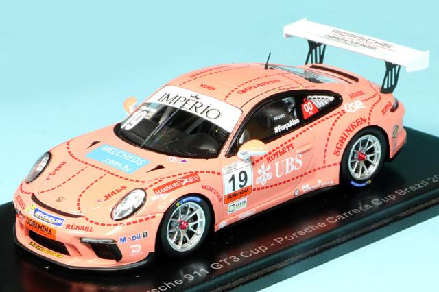 スパーク 1/43 ポルシェ 911 GT3 カップ ポルシェカレラカップ ブラジル 2018 No.19 S8503