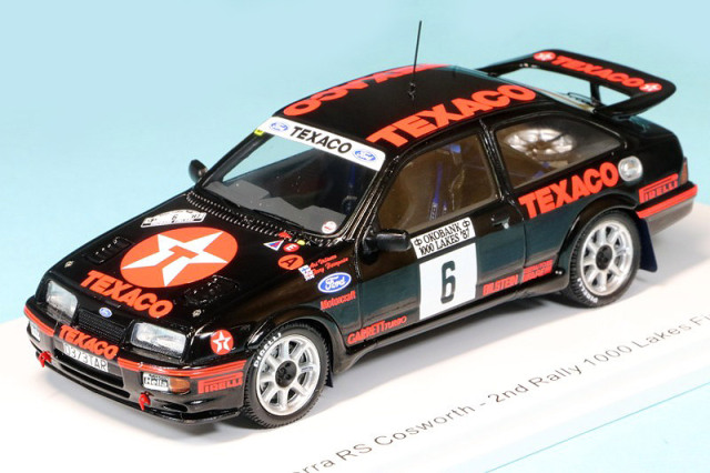 スパーク 1/43 フォード シエラ RS コスワース 1000湖ラリー フィンランド 1987 2nd No.6 S8704