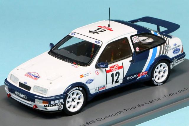 スパーク 1/43 フォード シエラ RS コスワース ツール ド コルス フランスラリー 1988 No.12 S8706