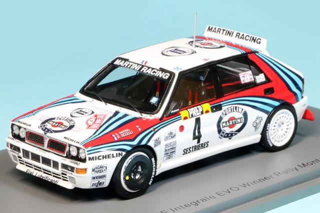 スパーク 1/43 ランチア デルタ HF インテグラーレ モンテカルロラリー 1992 Winner No.4 S9015