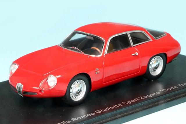 """スパーク 1/43 アルファ ロメオ ジュリエッタ スポーツ ザガート """"Coda Tronca"""" 1962 レッド S9048"""