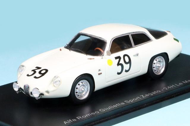 スパーク 1/43 アルファ ロメオ ジュリエッタ スポーツ ザガート ルマン 24h 1962 No.39 S9050