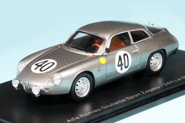 スパーク 1/43 アルファ ロメオ ジュリエッタ スポーツ ザガート ルマン 24h 1962 No.40 S9051
