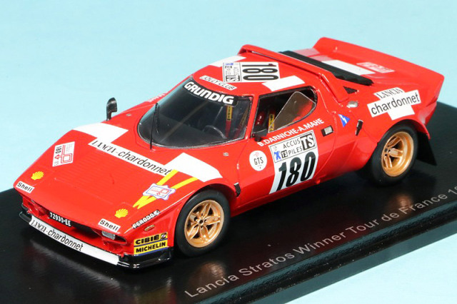 スパーク 1/43 ランチア ストラトス HF TDF 1975 Winner No.180 S9081