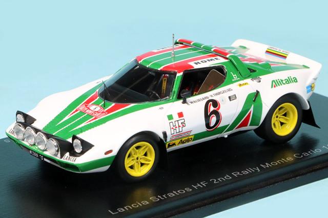 スパーク 1/43 ランチア ストラトス HF モンテカルロラリー 1976 2nd No.6 S9083