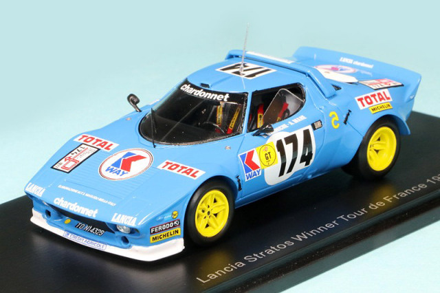 スパーク 1/43 ランチア ストラトス HF TDF 1975 Winner No.174 S9097