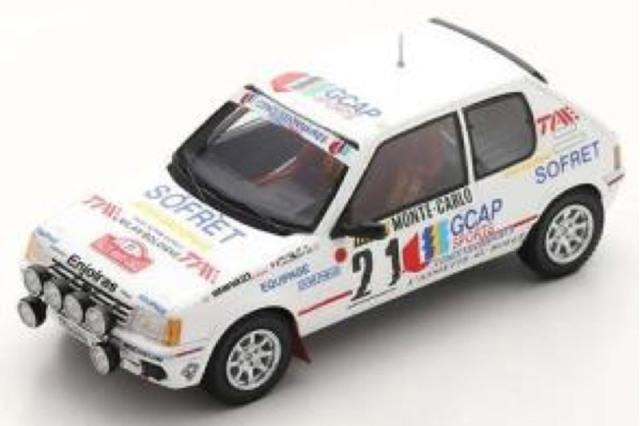 [予約] スパーク 1/43 プジョー 205 GTI モンテカルロラリー 1988 3rd No.21 S9453