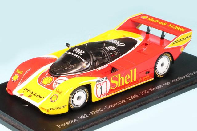 カーティマ特注スパーク 1/43 ポルシェ 962 ADAC スーパーカップ ノリスリンク 200マイル 1988 No.1 SAM057