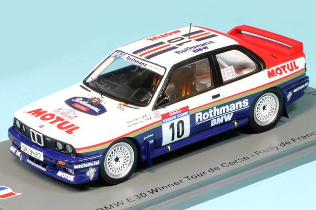 スパーク 1/43 BMW M3 E30 ツール ド コルス フランスラリー 1987 Winner No.10 デカール加工品 SF148S