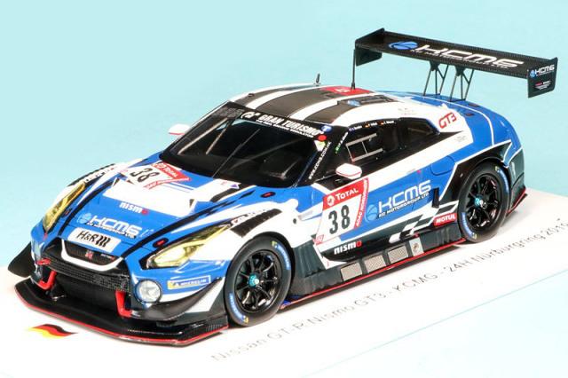 """スパーク 1/43 ニッサン GT-R ニスモ GT3 """"KCMG"""" ニュルブルクリンク 24h 2019 No.38 SG560"""