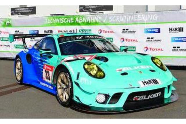 [予約] スパーク 1/43 ポルシェ 911 GT3 R ニュルブルクリンク 24h 2021 9th No.33 SG758