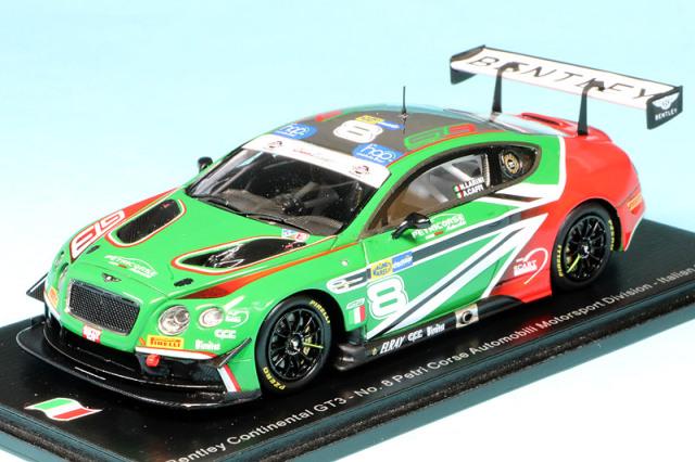 スパーク 1/43 ベントレー コンチネンタル GT3 イタリア GT 2018 No.8 SI007