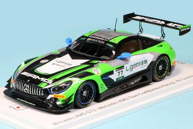 スパーク 1/43 メルセデス AMG GT3 鈴鹿 10h 2019 4th No.77 SJ086
