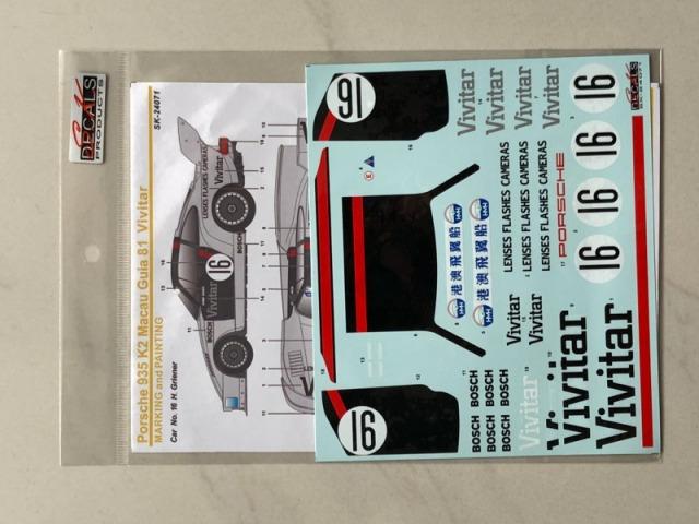 SK Decal 1/24 ポルシェ 935 K2 VIVITAR マカオ ギア 1981 No.16 フルスポンサーデカール (Beemax対応) SK24071