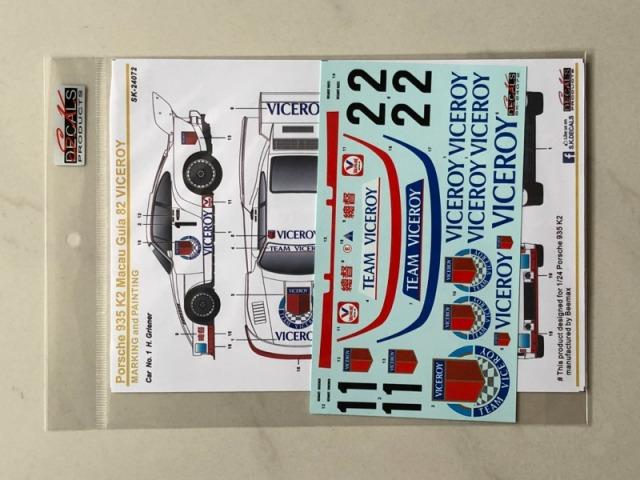 SK Decal 1/24 ポルシェ 935 K2 VICEROY マカオ ギア 1982 No.1/2 フルスポンサーデカール (Beemax対応) SK24072