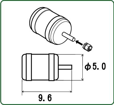 さかつう 1/24 タンク(消化器等) 六角フランジ付き 2個入り SKT-3073