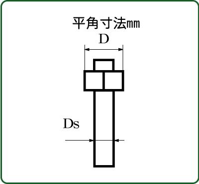 さかつう 六角ボルト/ナット 平径1.0mm 胴径(埋め込み部分)0.5mm 10個入り SKT-4501