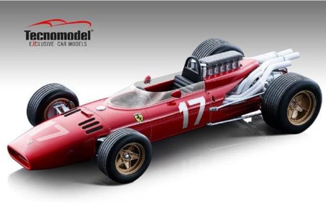 [予約] テクノモデル 1/18 フェラーリ 312 F1 モナコGP 1966 J.サーティース T18-163C