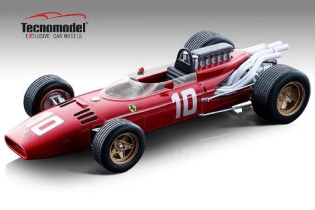 [予約] テクノモデル 1/18 フェラーリ 312 F1 ニュルブルクリンクGP 1966 M.パークス T18-163D