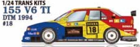 [取り寄せ] スタジオ27 1/24 トランスキット アルファロメオ 155 V6 T1 DTM 1994 No.18 TK2469