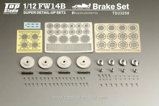 トップスタジオ 1/12 ウィリアムズ FW14B ブレーキディスク ディティールアップパーツ TD23258