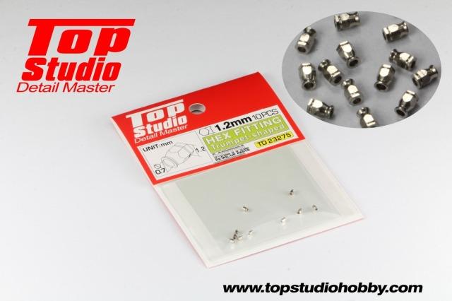 トップスタジオ 六角フィッティング (六角フランジ) 1.2mm トランペット型 TD23275