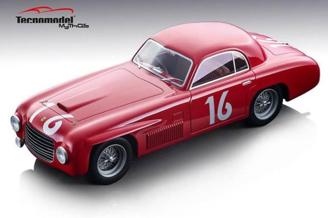 [予約] テクノモデル 1/18 フェラーリ 166 S クーペ アレマーノ ミレミリア 1948 Winner No.16 TM18-155B