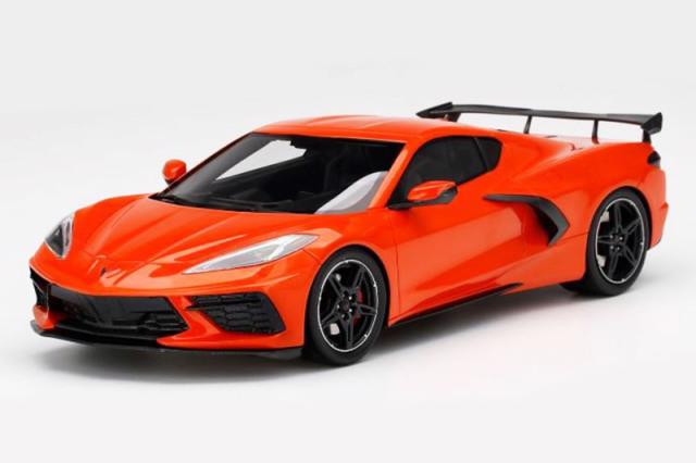 [予約] トップスピード 1/18 シボレー コルベット スティングレー 2020 ハイウィング セブリング オレンジ ティントコート TS0285