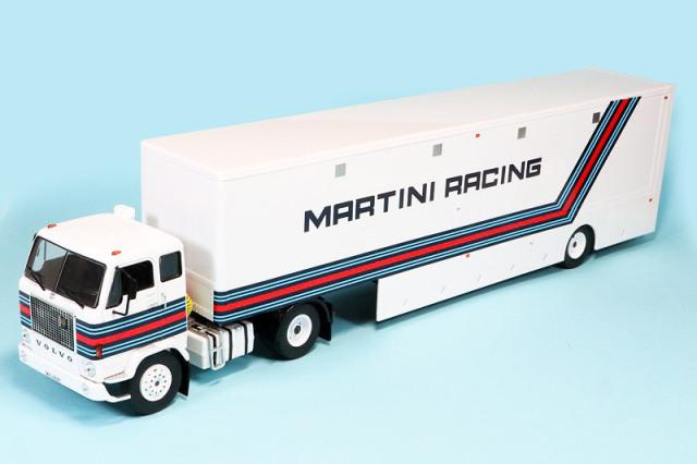"""イクソ 1/43 ボルボ F88 レーシング トランスポーター """"Martini Racing"""" TTR018"""