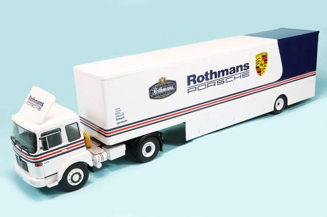 """イクソ 1/43 MAN 16.320 レーシングトランスポーター """"Rothmans Porsche"""" TTR022"""