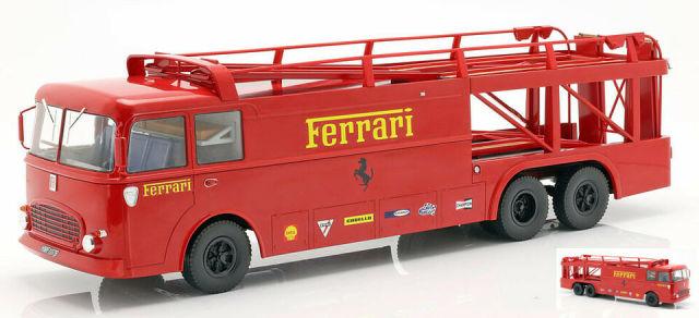 ノレブ 1/18 フィアット Bartoletti 306/2 フェラーリ レース トランスポーター JCB 1963 Ferrariロゴデカール加工品 187703 187703