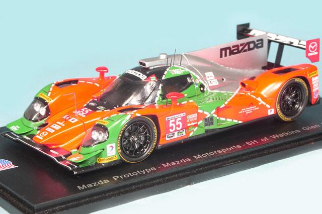 スパーク 1/43 マツダ プロトタイプ Mazda Motorsports ワトキンスグレン 6h 2016 No.55 US020