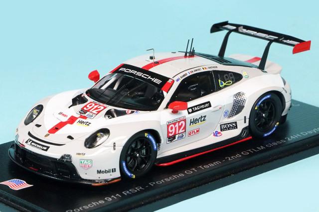 スパーク 1/43 ポルシェ 911 RSR デイトナ 2020 GTLM 2nd No.912 US121