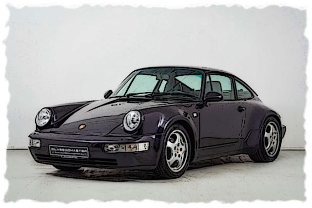 [予約] ヴィジョン 1/43 ポルシェ 911(964) 30周年記念車 (30 Jahre Jubilee Edition) 1993 ヴィオラメタリック VM191A