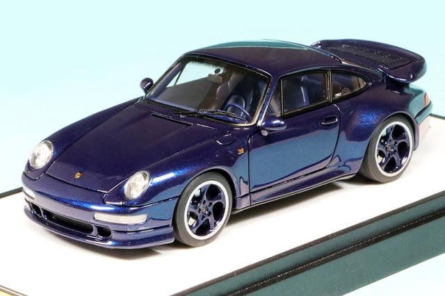 """ヴィジョン 1/43 ポルシェ 911 (993) ターボ """"ザ ラスト ワルツ"""" 1998 アイリスブルーメタリック (限定150台、国内販売75台) VM218"""