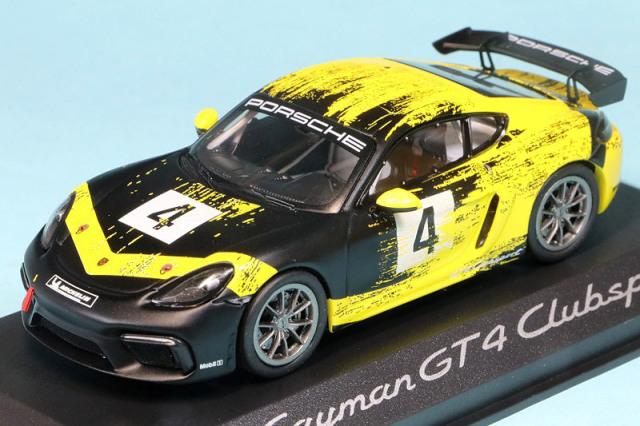 ポルシェ特注ミニチャンプス 1/43 ポルシェ 718 ケイマン GT4 クラブスポーツ 2019 No.4 WAP0204150K
