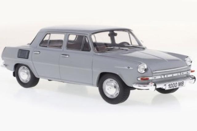 [予約] Whitebox 1/24 シュコダ 1000 MB 1965 グレー/ホワイト WB124097
