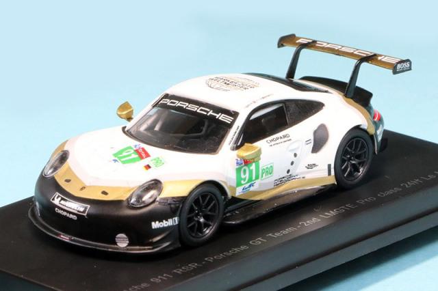 スパーク 1/64 ポルシェ 911 RSR ルマン 24h 2019 LMGTE Pro 2nd No.91 Y140