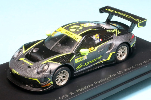 スパーク 1/64 ポルシェ 911 GT3 R FIA GT ワールドカップ マカオ 2019 No.912 Y171