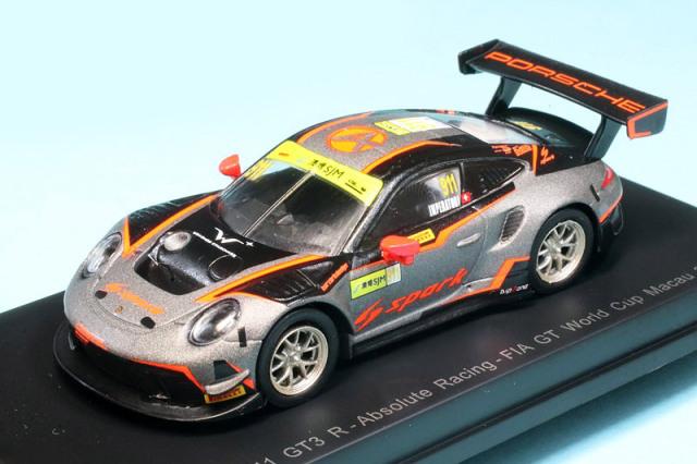 スパーク 1/64 ポルシェ 911 GT3 R FIA GT ワールドカップ マカオ 2019 No.911 Y172