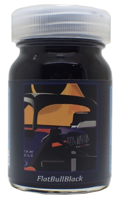 バルケッタ 塗料 フラットブルブラック つや消しの青味がかった黒 50mlbc-048